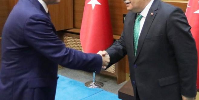 BAM Cumhuriyet Başsavcısı Çatal'dan Vali Nayir'e Hayırlı Olsun Ziyareti